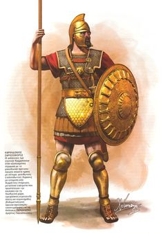 Punic Phalangite during the first Punic war between Rome and Carthage