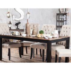 Furniture of America Sheila Rustic Two-Tone Dining Table