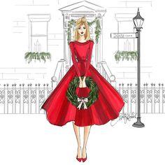 Holly Lane by fashion illustrator, Holly Nichols