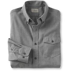 L.L.Bean Brushed Poplin Shirt, Slightly Fitted Tall