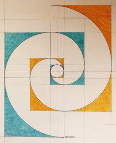Fibonacci Art - Sac et accessoires Art Fractal, Fractal Geometry, Geometry Art, Sacred Geometry, Geometry Tattoo, Geometric Designs, Geometric Shapes, Fibonacci Spiral, Fibonacci Golden Ratio