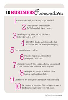 I am passing this tip on: Great sales tips! 10 fantastic business reminders - by Weswen Design www.MyDSWA.org
