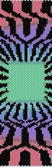BPOP0004 Optical 4 Even Count Single Drop Peyote Cuff/Bracelet Pattern