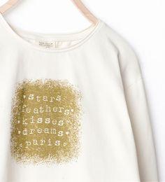 Imagem 3 de T-SHIRT ESTAMPADO TEXTO FANTASIA da Zara
