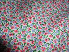 Ralph Lauren Twin Flat Sheet in the Zoe pattern.  Gorgeous for a little girl's room. For sale now on Ebay at BeautyForYourHome