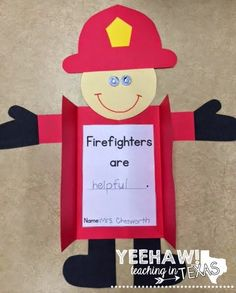 Gearing Up for Fire Safety Week?You can find Fire safety and more on our website.Gearing Up for Fire Safety Week? Fireman Crafts, Firefighter Crafts, Firefighter Quotes, Volunteer Firefighter, Fire Safety Crafts, Fire Safety Week, Preschool Fire Safety, Kids Safety, Community Helpers Crafts