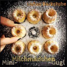 Mini-Milchmädchen-Gugl #minigugl #minigugel #gugl #gugel #guglhupf #minikuchen #kuchen #rezept #gugelhupf #food #foodblog #foodblogger #blog #blogger #rezeptimblog #milchmädchen #gezuckertekondensmilch #lishasbackstube Simple Muffin Recipe, Healthy Muffin Recipes, Donut Recipes, Cake Recipes, Dessert Recipes, Desserts, Gluten Free Donuts, Donut Bar, Mini Muffins
