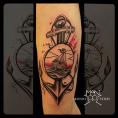 manoo stich tattoos, berlin www.stichpiraten.de #anchortattoo