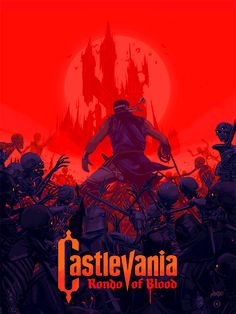 In addition to the Castlevania: Symphony of the Night soundtrack on vinyl, Mondo will release a Castlevania: Rondo of Blood poster tomorrow, October at EST. Designed by Oliver Barrett, the screen print is limited to 275 and costs. Classic Video Games, Retro Video Games, Video Game Art, Retro Games, Castlevania Games, Castlevania Lord Of Shadow, Alucard Castlevania, Lord Of Shadows, Nintendo Tattoo