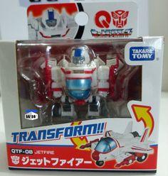 Jetfire QTF-08- Takara Tomy Q Transformers Mini Figure - QTF08, Autobot, New #TakaraTomy