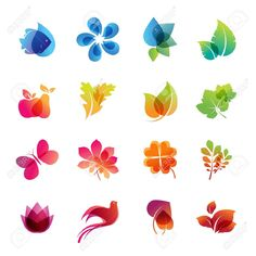 13425515-Colorful-nature-icon-set--Stock-Vector-lotus-flower-spa.jpg (1300×1300)