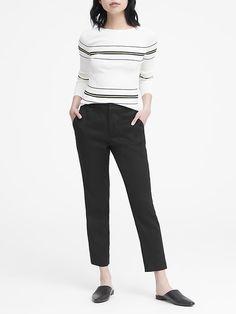 380894d7059 Petite Avery Straight-Fit Linen-Cotton Pant in classic pink bubblegum