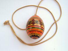 Big Old Wood Egg Shaped Vintage stripe by spankyluvsvintage