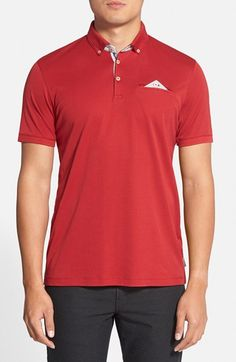 Ted Baker London 'Raynor' Extra Trim Fit Jersey Polo available at Ted Baker, Polo Shirt, Nordstrom, London, Fitness, Mens Tops, How To Wear, Products, Fashion