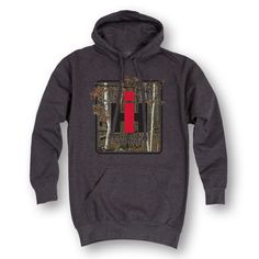 Farming and hunting go hand in hand so show your hunting and farming spirit with this hoodie that features an International Harvester logo placed perfectly on a camouflage background. Product Details