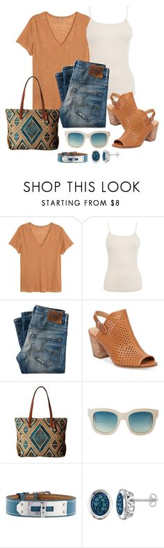 """""""Untitled #1086"""" by gallant81 ❤ liked on Polyvore featuring H&M, Warehouse, Lucky Brand, Monki and Hermès"""