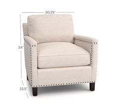 Tyler Upholstered Armchair | Pottery Barn