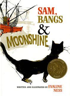 1967 Caldecott Award - Sam, Bangs & Moonshine by Evaline Ness