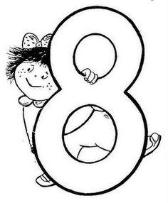Números para colorear Podemos comenzar el verano con estas fichas numéricas para trabajar en verano, conocer los números y colorearlos. Numbers For Kids, Letters And Numbers, Tracing Worksheets, Preschool Worksheets, Kindergarten Math, Teaching Math, Abc Coloring Pages, Montessori Education, 8th Of March