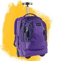 Purple Sierra backpack on wheels Jansport, North Face Backpack, Kohls, Back To School, The North Face, Unicorn, Wheels, Babies, Backpacks