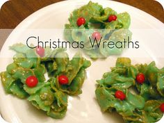 corn flake christmas wreaths - No baking