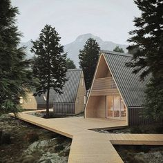 ♡ Pinterest // @annnna123 #madihome #innovation #timber #woodhouse #wood #unfoldable #flatpavk#tinyhouse #aframehouse #cabinhouse #cabinporn #designporn #architecture