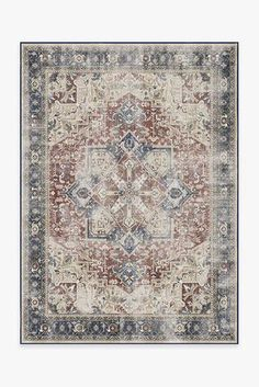 Cambria Abalone Rug – Ruggable Coral Rug, Burgundy Rugs, Black White Rug, Machine Washable Rugs, Distressed Texture, Farmhouse Rugs, Red Rugs, Funky Rugs, Natural Rug
