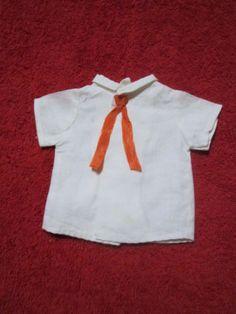 Schoene-alte-Puppenkleidung-Niedliche-weisse-Bluse