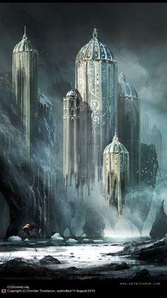 """Kingdoms"" by Dimitar Tzvetanov   #Fantasy #Landscape #Castle:"