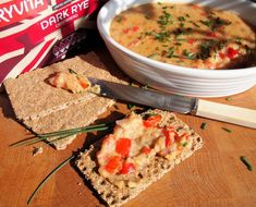 Vegetarian Red Pepper, Lentil and Cheese Pâté (Spread) Recipe. 12 SmartPoints for this recipe