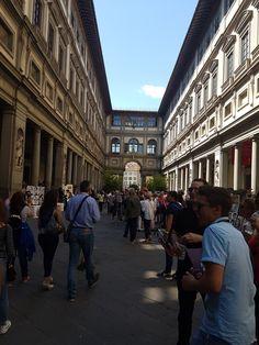 UffizienKunstmuseum  Florenz Street View, Florence, Art Museum, Travel
