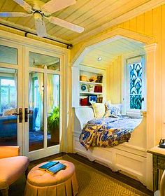 A good room to snuggle with the grands and read....