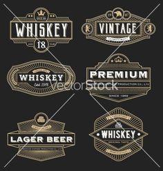 Vintage frame design for labels banner logo emblem vector
