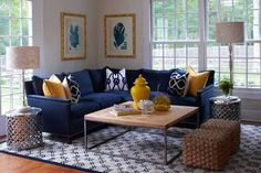 """living.room """"navy sofa"""" feature wall - Google Search"""