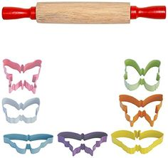 FlavorTools Kids Vibrant Colorful Butterfly Cutter Gift Set 7Piece * Check this awesome product by going to the link at the image.