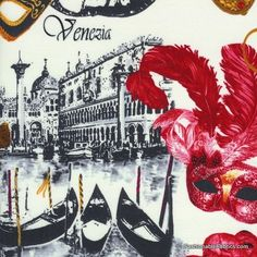 Venice Masks by Timeless Treasures Fabric