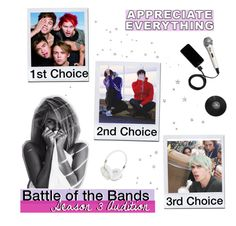 """""""&&. audition // battle of the bands s3!"""" by gxns-for-hands ❤ liked on Polyvore featuring art"""