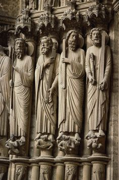 Jamb Statues At Chartres Cathedral | Jamb Statues on the South Transept Porch of Chartres Cathedral - 6727 ...