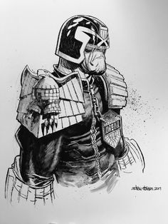 Judge Dredd by Andrew Robinson