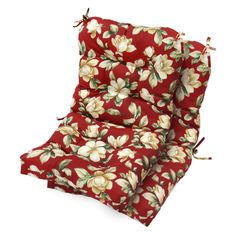 Havenside Home Eastport x Outdoor Seat/Back Chair Cushion (Roma Floral - Floral), Ivory, Cream - x Outdoor Cushion Outdoor Lounge Chair Cushions, Outdoor Chairs, Yellow Cushions, High Back Chairs, Patio Accessories, Home Fashion, House Styles, Ties, Office Chairs