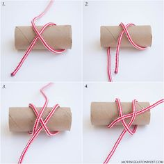 A picture based tutorial on how to make a nautical rope napkin ring, or the Turk's Head knot as it's officially called. Diy Home Crafts, Book Crafts, Diy Crafts To Sell, Craft Books, Diy Christmas Garland, Diy Garland, Christmas Decor, Rideaux Design, Diy Leather Bracelet