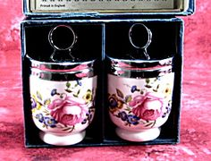 Vintage Egg Coddler Pair Royal Worcester Bournemouth Single Boxed 1970