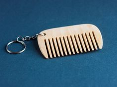 Comb Beard keychain Wood keychainpersonalized keychain от EcoGG