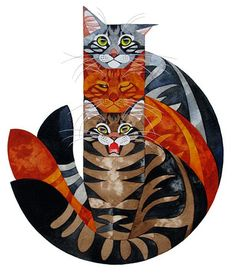 ♥ Three Cats by Stephanie Manchipp from gatos e outros bichos. ♥ (Must love cats) I Love Cats, Crazy Cats, Cool Cats, Warrior Cats, Illustration Photo, Illustrations, Frida Art, Photo Chat, Cat Drawing
