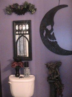 Halloween decorated victorian goth living room love for Gothic bathroom ideas