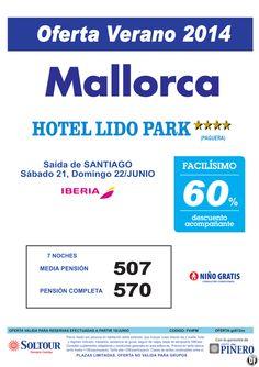 Mallorca, 60% Dto.Acompañante, Hotel Lido Park, salidas 21 y 22 Junio desde Santiago ultimo minuto - http://zocotours.com/mallorca-60-dto-acompanante-hotel-lido-park-salidas-21-y-22-junio-desde-santiago-ultimo-minuto/