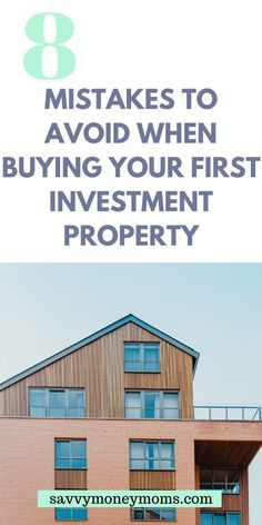 8 mistakes to avoid when buying your first investment property, perfect for beginners Buying Investment Property, Income Property, Investment Tips, Rental Property, Real Estate Business, Real Estate Tips, Real Estate Investing, Investing Money, Home Buying Tips