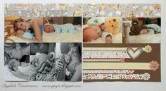 Broken Treasures: Joyful Stars New Product Blog Hop #BabyCakes Paper Pack #CTMH #Closetomyheart #scrapbook layout #baby