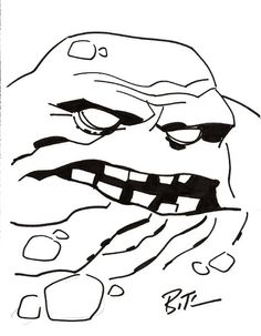 Clayface by Bruce Timm