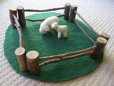 Waldorf Steiner Inspired Wooden Fence Sets by magicbymum on Etsy, $40.00